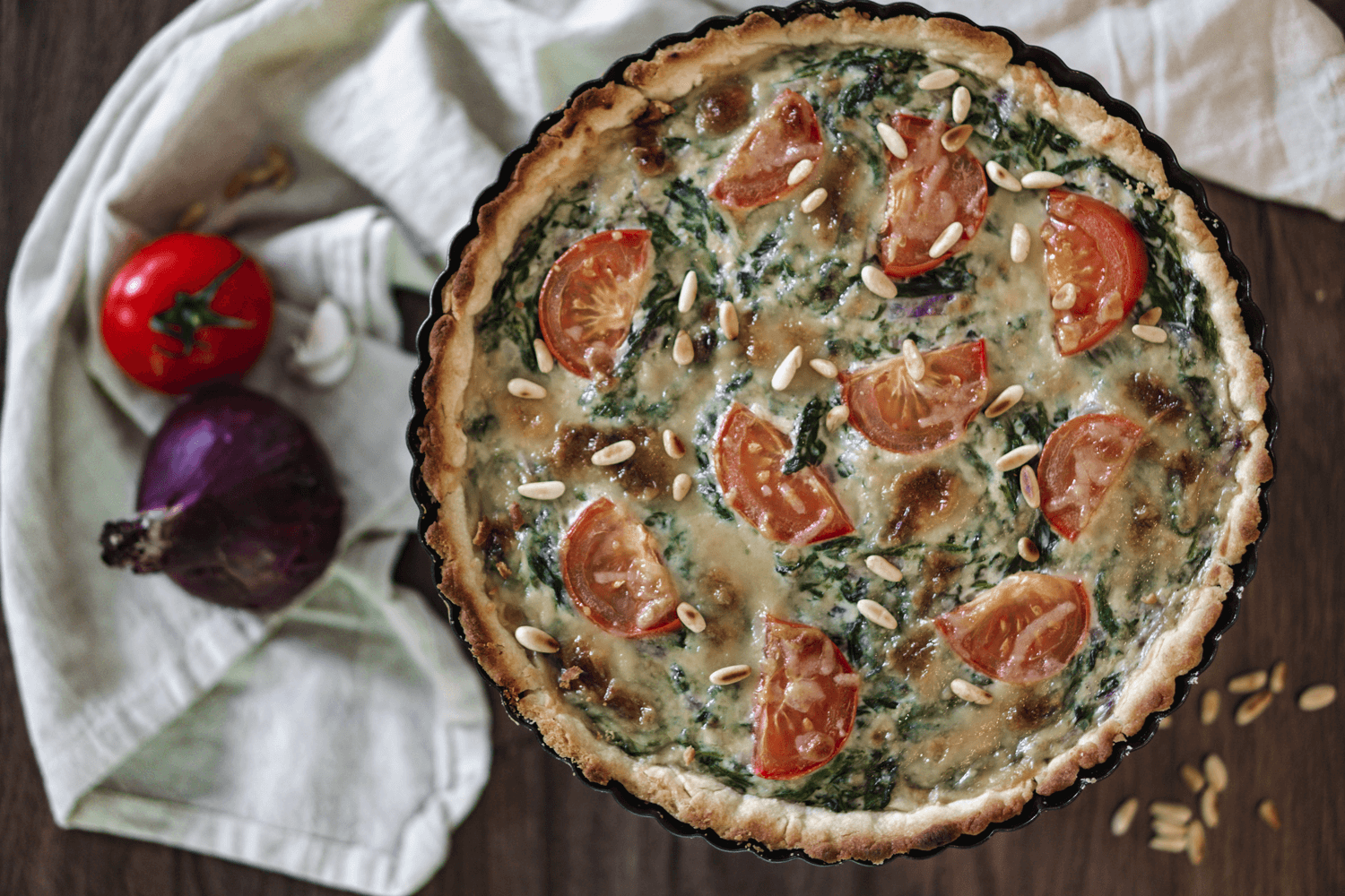 Spinat Quiche